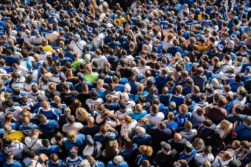 Fanblock im Wildparkstadion