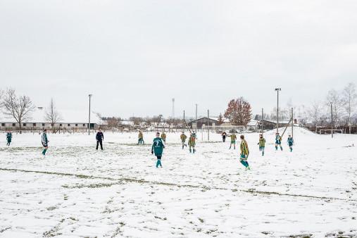 Spieltag im Schnee