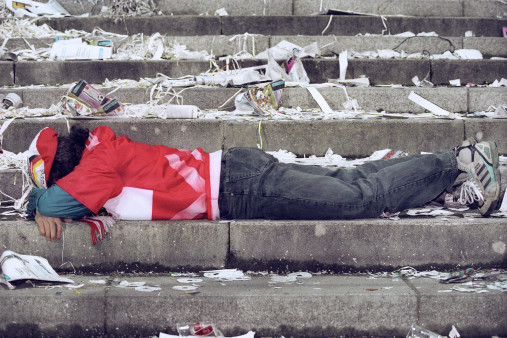 Trauernder Fan - Fußball Wandbild - 11FREUNDE SHOP