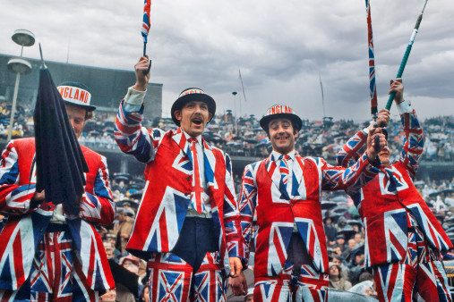 England Fans 1972 - Olympiastadion Berlin Playoffs EM-Qualifikation