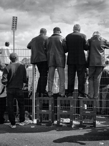 Über den Zaun am Bökelberg - Borussia Mönchengladbach Bökelberg - Foto als Wandbild