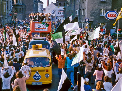 Gladbacher Meisterfeier 1975 - Wandbild Borussia Mönchengladbach