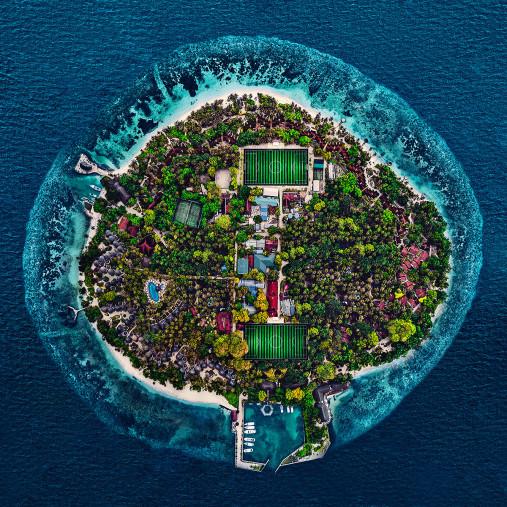 Spielfelder auf den Malediven