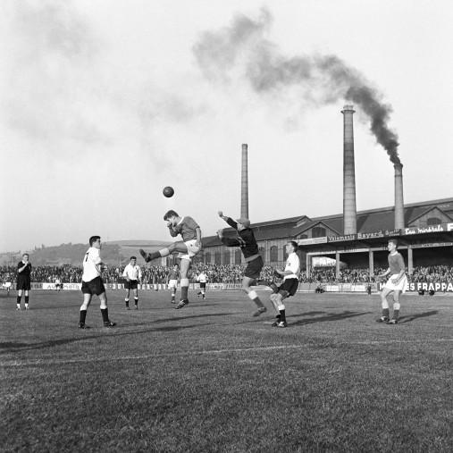 Schornsteine im Stade Geoffroy-Guichard