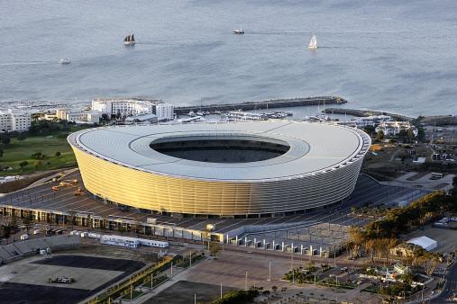Cape Town Stadium und Segelboote