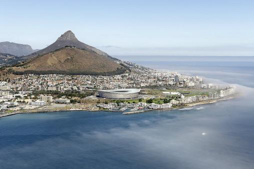 Cape Town Stadium vom Wasser aus