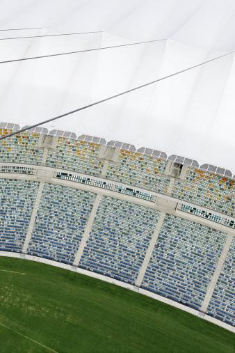 Stadiondach und Sitze in Durban