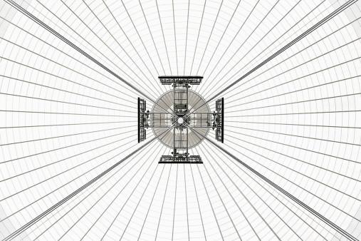 Dachkonstruktion im Nationalstadion Warschau