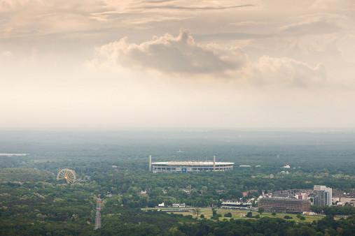 Frankfurter Arena im Stadtbild