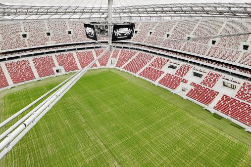 Nationalstadion Warschau von oben