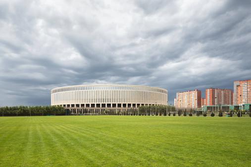 Vor dem Krasnodar Stadium - Fußball Wandbild - 11FREUNDE SHOP
