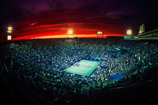 Centre Court bei Sonnenuntergang