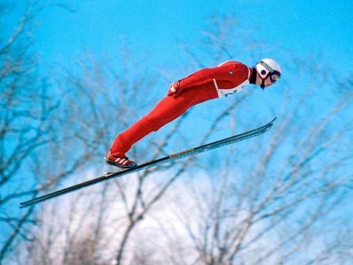 Skisprung am Lake Placid