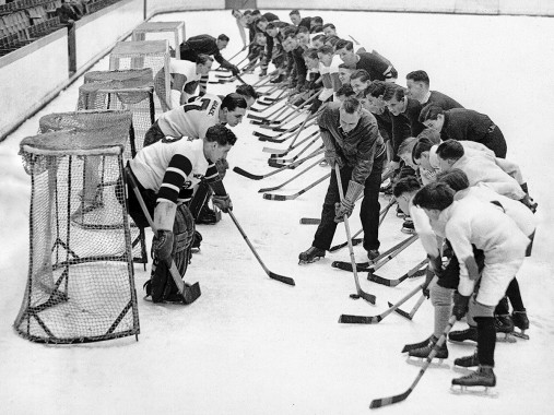 Eishockeytraining in der Wembley Arena