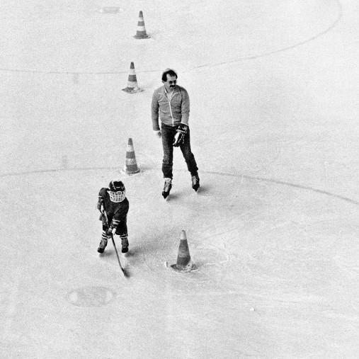 Eishockeynachwuchs in den Siebzigern