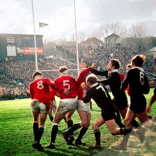Rugby 1971 - Sport Fotografie als Wandbild - Rugby Foto - NoSports Magazin