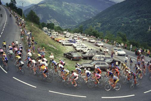 In den Alpen bei der Tour 1994
