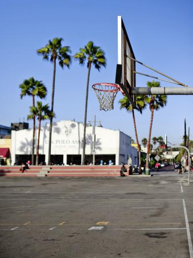 Basketballplatz in Venice Beach - Streetball Court Foto als Wandbild