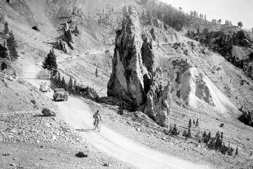 Am Col d'Izoard bei der Tour 1938