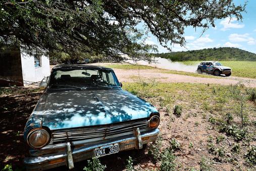 Bei der Rallye in Argentinien