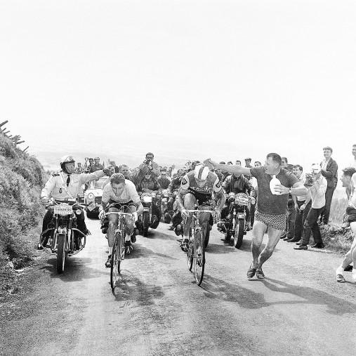 Mit dem Schwamm bei der Tour 1964