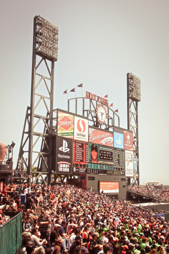 Anzeigetafel AT&T Park - 11FREUNDE SHOP - Baseball Fotos - NoSports