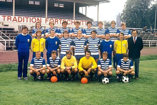 Jena in den Siebzigern (2) Mannschaftsfoto - 11FREUNDE BILDERWELT