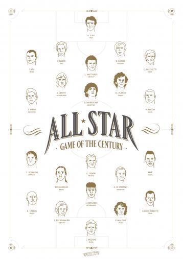 Legendary XI: All Star Game Of The Century - Poster bestellen - 11FREUNDE SHOP