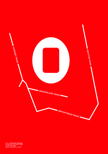 Piktogramm: Arsenal (Emirates Stadium) - Poster bestellen - 11FREUNDE SHOP