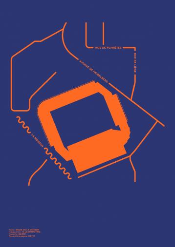 Piktogramm: Montpellier - Poster bestellen - 11FREUNDE SHOP