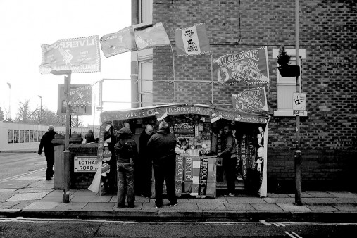 Merchandise-Stand in Liverpool