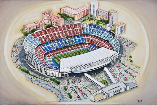 Stadia Art: Camp Nou - Poster bestellen - 11FREUNDE SHOP