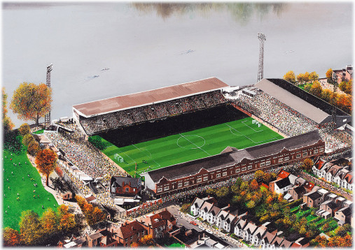 Stadia Art: Craven Cottage (aerial) - Poster bestellen - 11FREUNDE SHOP