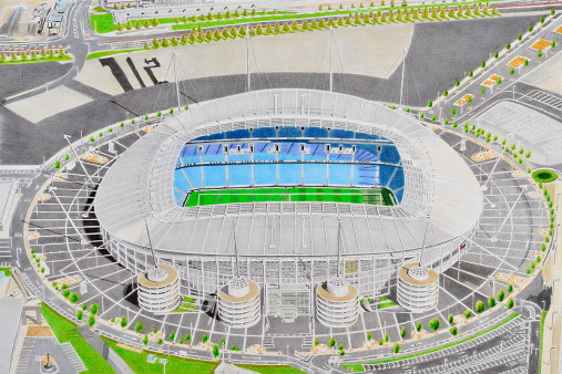 Stadia Art: Etihad Stadium - Poster bestellen - 11FREUNDE SHOP