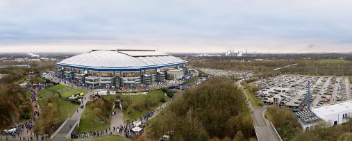 Vogelperspektive Arena auf Schalke