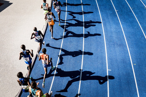 Momentaufnahme 5000m Lauf