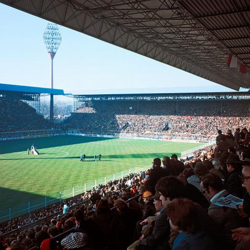 Westfalenstadion 1976 - Fußball Foto Wandbild - 11FREUNDE SHOP