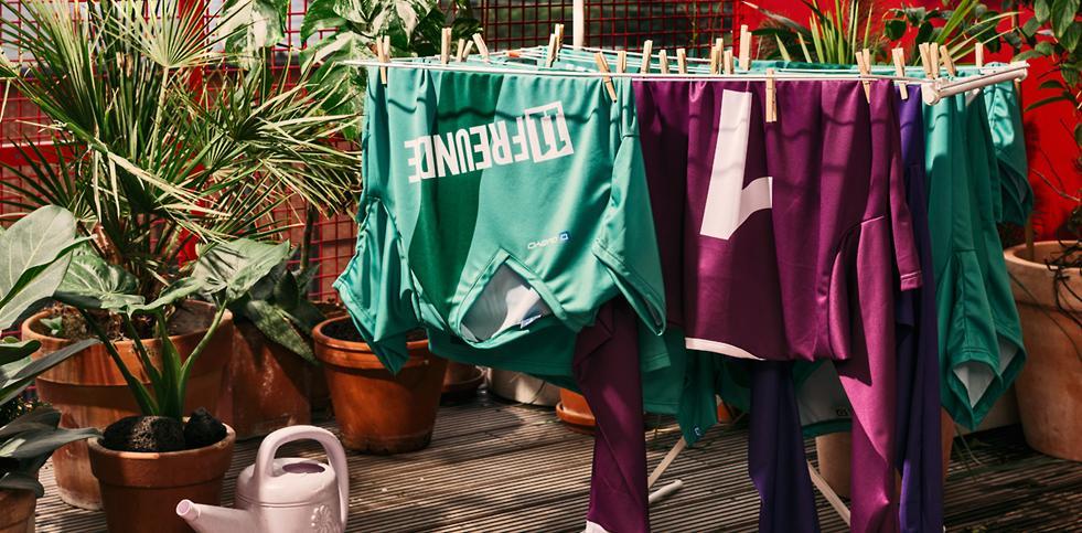 Trikotkonfigurator-Wäscheständer