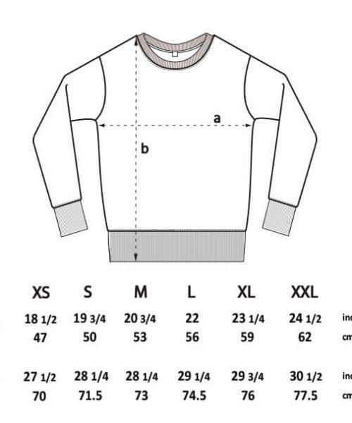 Größentabelle - 11FREUNDE Fairwear-Sweater