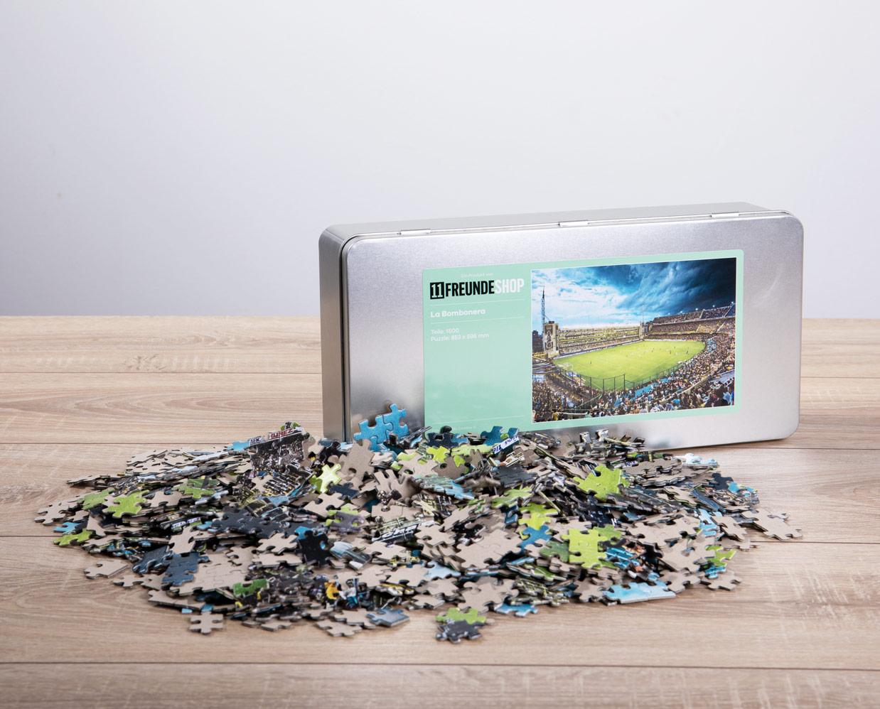 11FREUNDE Puzzles mit Fußball- und Sportmotiven in Blechbox