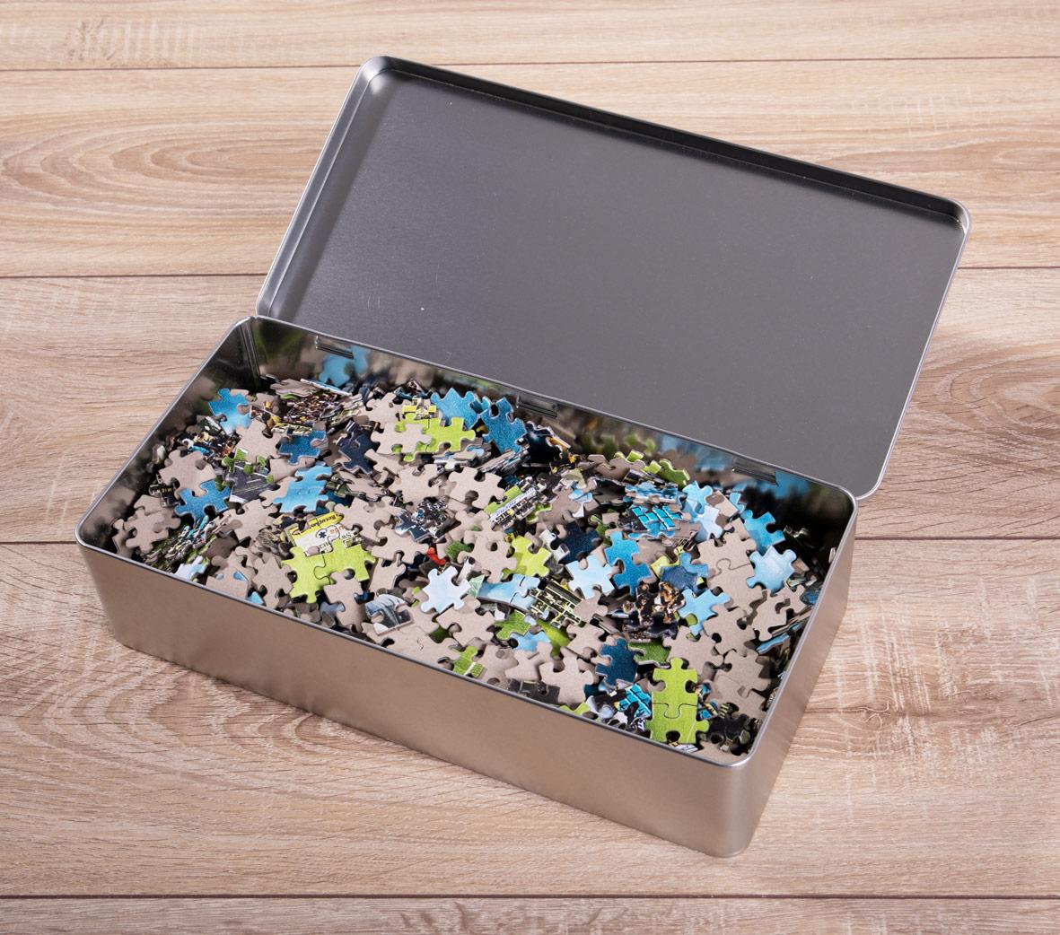 exemplarische Blechbox Puzzle-Verpackung 11FREUNDE SHOP